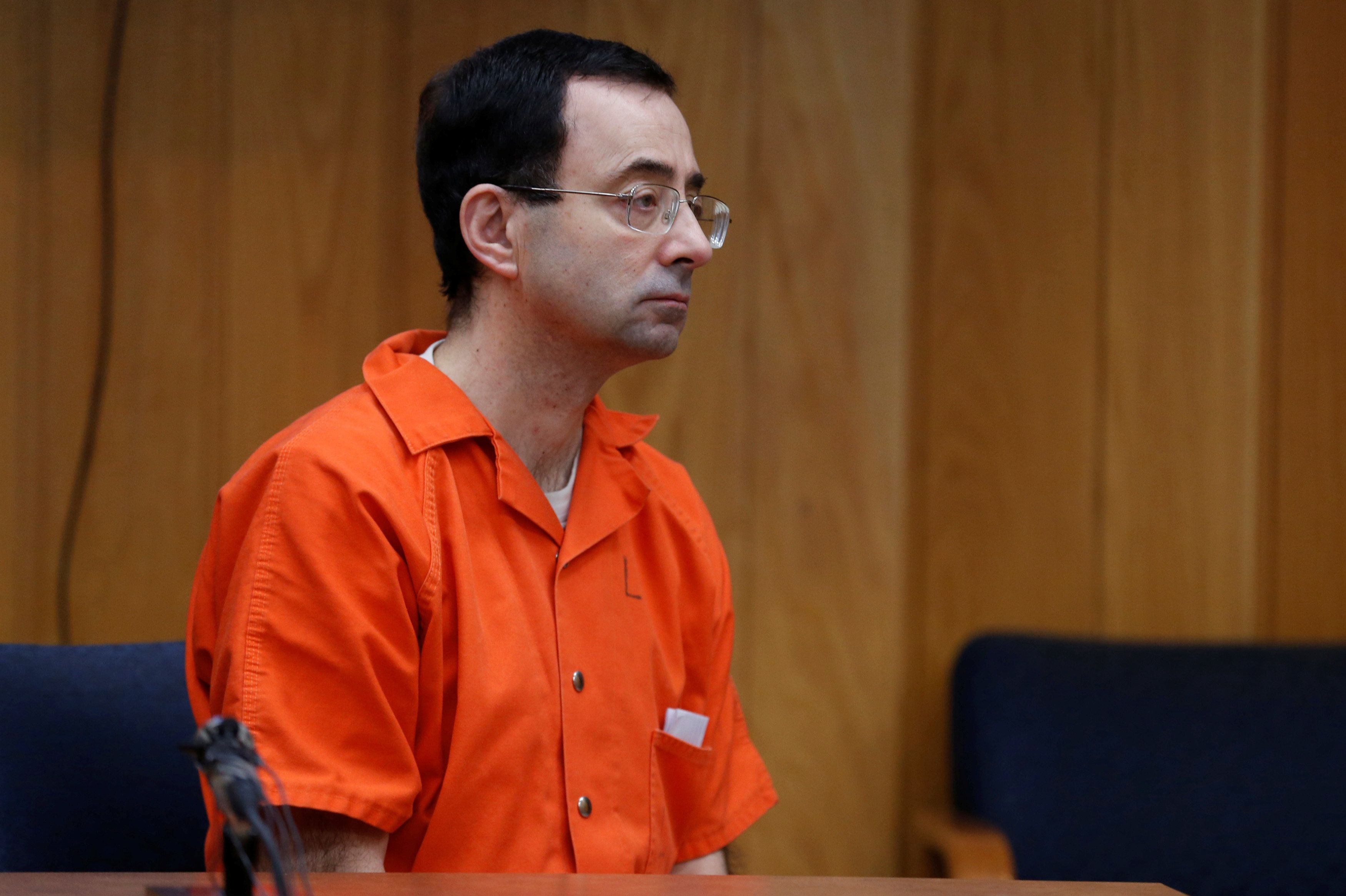 Former USA Gymnastics team doctor and Michigan State University trainer Larry Nassar during his second sentence hearing on ch