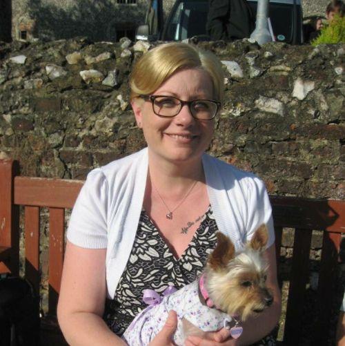 Rachel Wilkinson with her dog