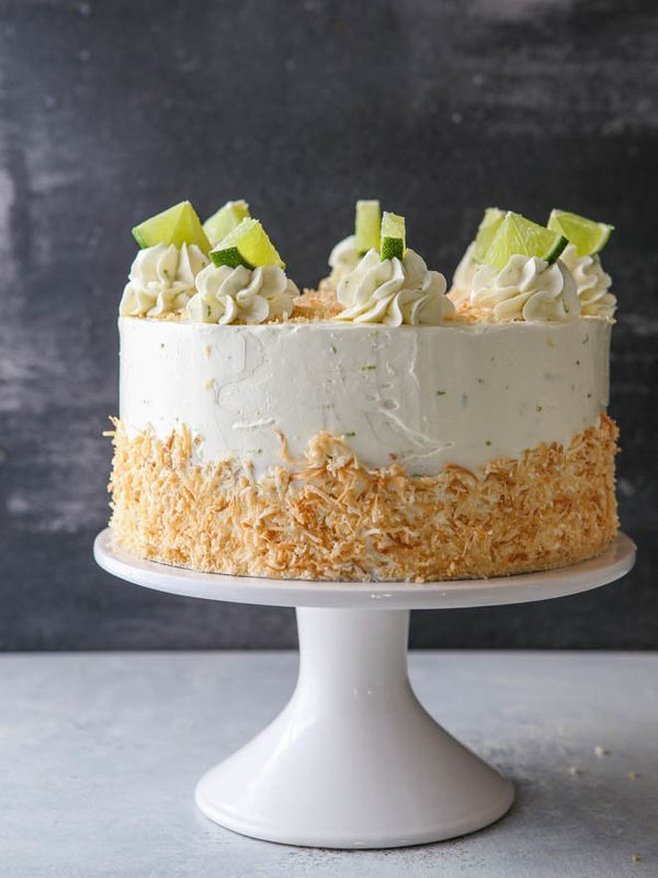 "<strong>Get the <a href=""https://www.completelydelicious.com/coconut-cream-lime-cake/"" target=""_blank"">Coconut Lime Cake</a>"