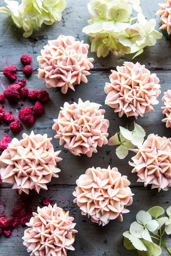 "<strong>Get the <a href=""https://www.halfbakedharvest.com/hydrangea-flower-carrot-cake-cupcakes/"" target=""_blank"">Hydrangea F"