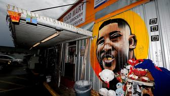 BATON ROUGE, LA - MAY 03:  Rain falls outside the Triple S Food Mart where Alton Sterling was fatally shot and killed by Baton Rouge Police officers last July on May 3, 2017 in Baton Rouge, Louisiana. The U.S. Department of Justice announced that they will not file charges against the Baton Rouge police officers involved in the shooting. Sterling was shot at close range while being held down by Baton Rouge Police Department officers, last July.  (Photo by Sean Gardner/Getty Images)