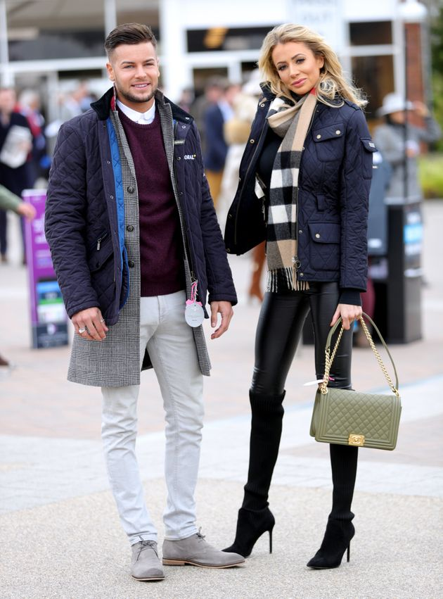 Chris with ex-girlfriend Olivia