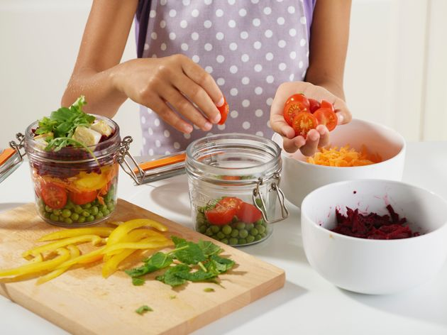 Preparing food (washing, cutting, etc.) as soon as you get home from the grocery store can encourage...