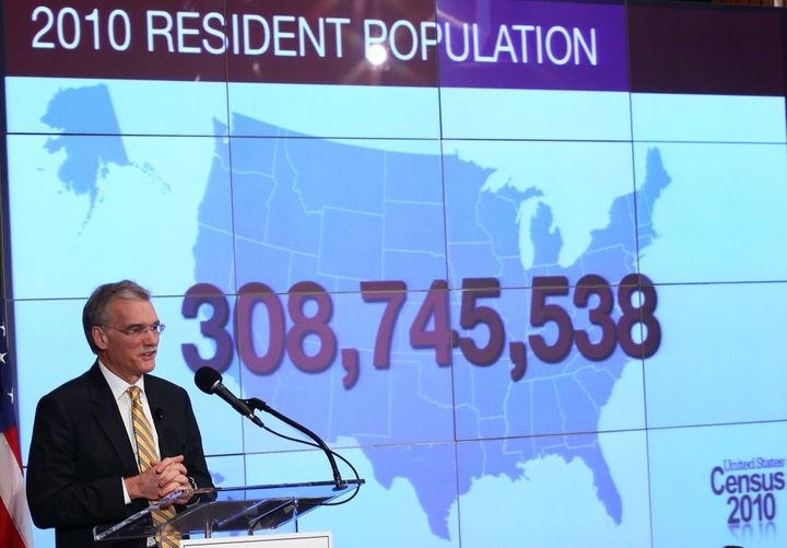 Former Director of the U.S. Census Bureau Robert Groves discusses the results of the 2010 Census during a press conference on