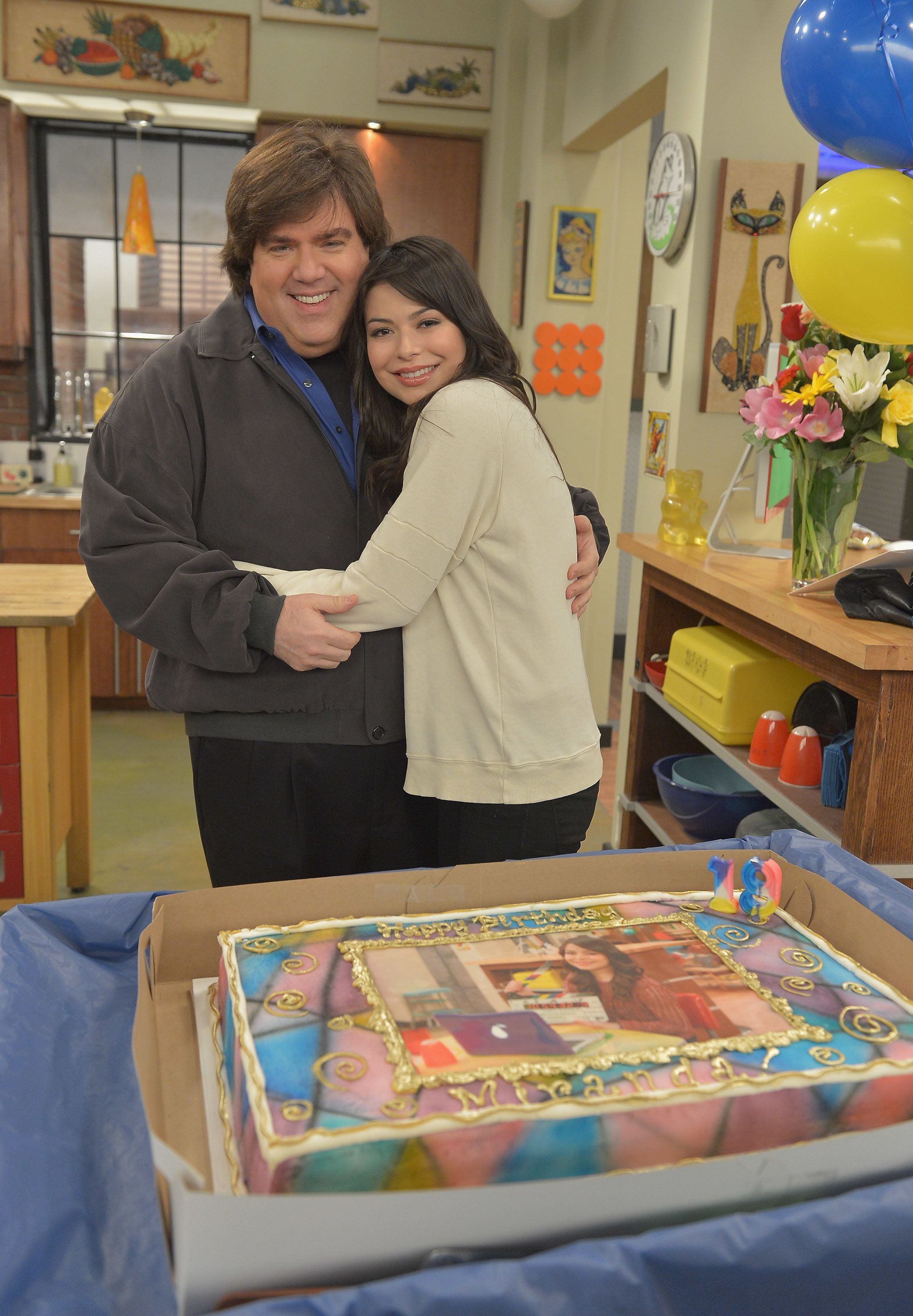 "Dan Schneider and ""iCarly"" star Miranda Cosgrove."