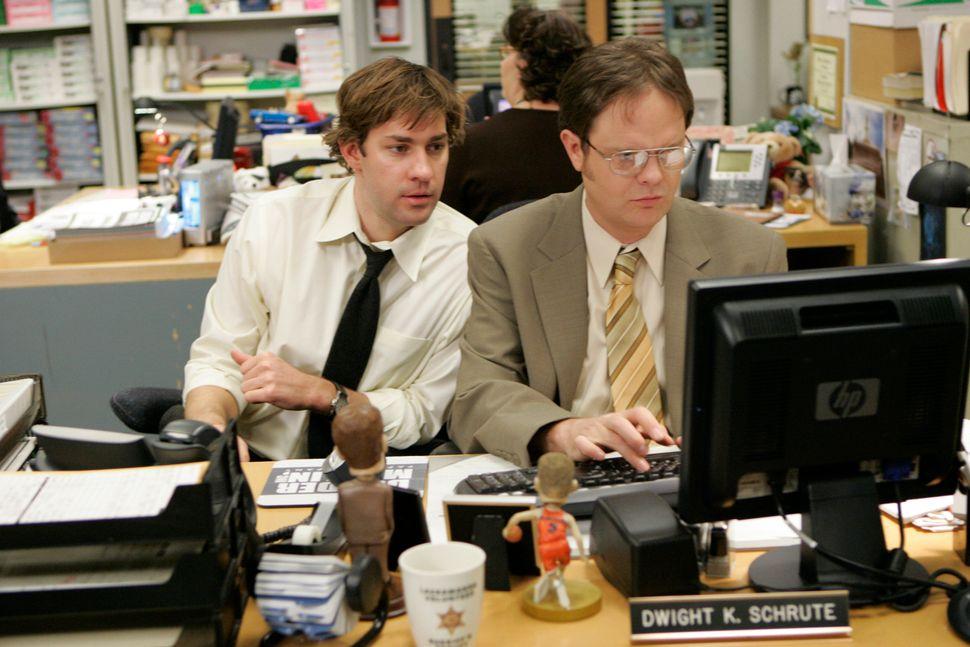 """John Krasinski and Rainn Wilson in a 2008 episode of """"The Office."""""""