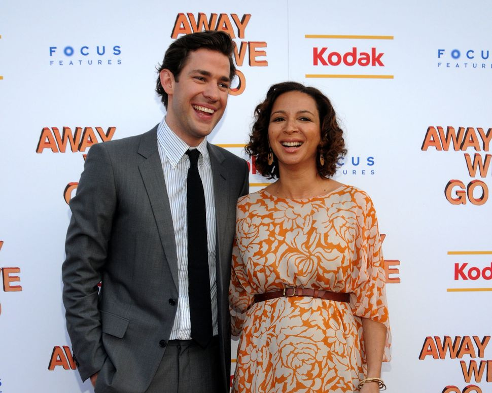 "John Krasinski and Maya Rudolph attend a 2009 screening of ""Away We Go."""
