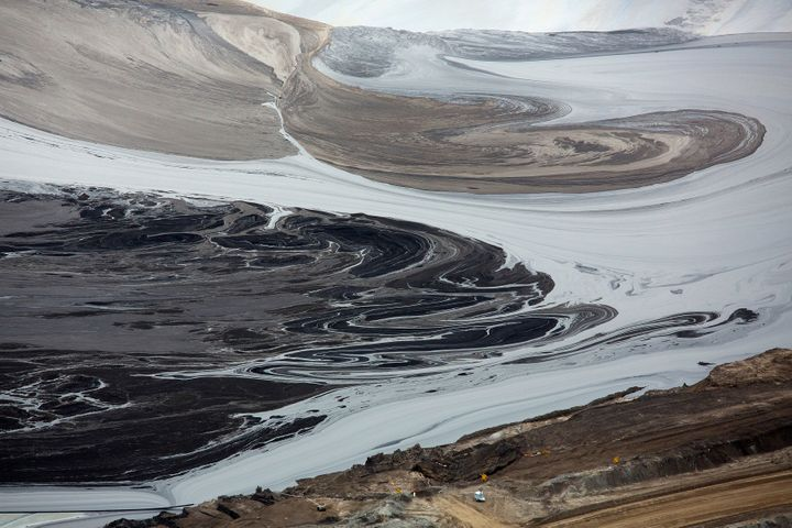 A tailings pond near the Syncrude tar sands operation in Fort McMurray, Alberta.