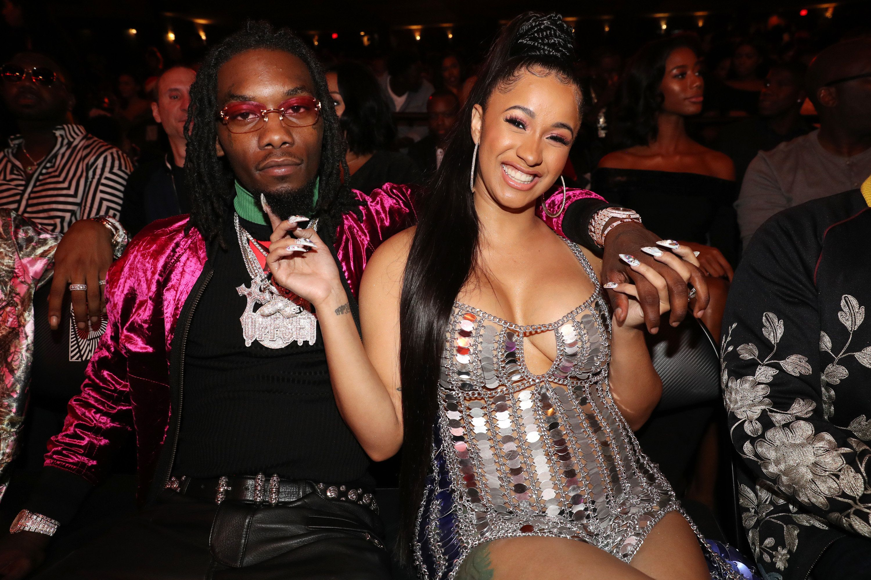 Offset and Cardi B attend the 2017 BET Hip Hop Awards on Oct. 6, 2017.