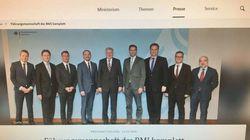 Seehofers MANNschaft: Ein Foto des Bundesinnenministeriums löst Kritik