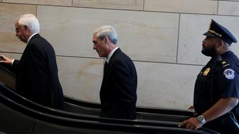 Special Counsel Robert Mueller departs after briefing the House Intelligence Committee on Capitol Hill in Washington, U.S., June 20, 2017. REUTERS/Aaron P. Bernstein