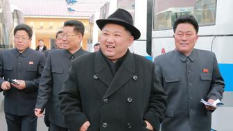 North Korean leader Kim Jong Un inspects a newly established Pyongyang trackless trolley factory in this undated photo released by North Korea's Korean Central News Agency (KCNA) in Pyongyang on February 1, 2018. KCNA/via REUTERS     ATTENTION EDITORS - THIS PICTURE WAS PROVIDED BY A THIRD PARTY. REUTERS IS UNABLE TO INDEPENDENTLY VERIFY THE AUTHENTICITY, CONTENT, LOCATION OR DATE OF THIS IMAGE. NO THIRD PARTY SALES. NOT FOR USE BY REUTERS THIRD PARTY DISTRIBUTORS. SOUTH KOREA OUT.      TPX IMAGES OF THE DAY
