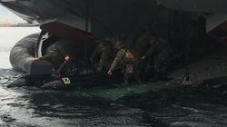 Έκτακτη άσκηση των Ενόπλων Δυνάμεων , με ανακατάληψη βραχονησίδας, κατόπιν εντολής