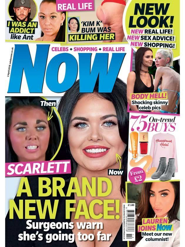 Scarlett Moffatt featured on this Now magazine cover this
