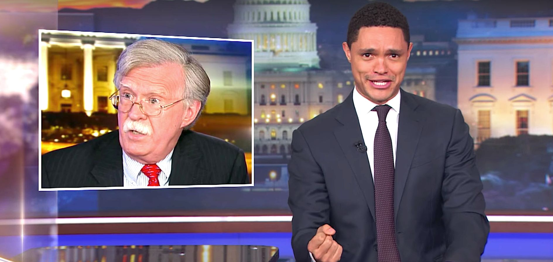 Trevor Noah Rips Trump's New 'War-Horny' National Security Adviser John