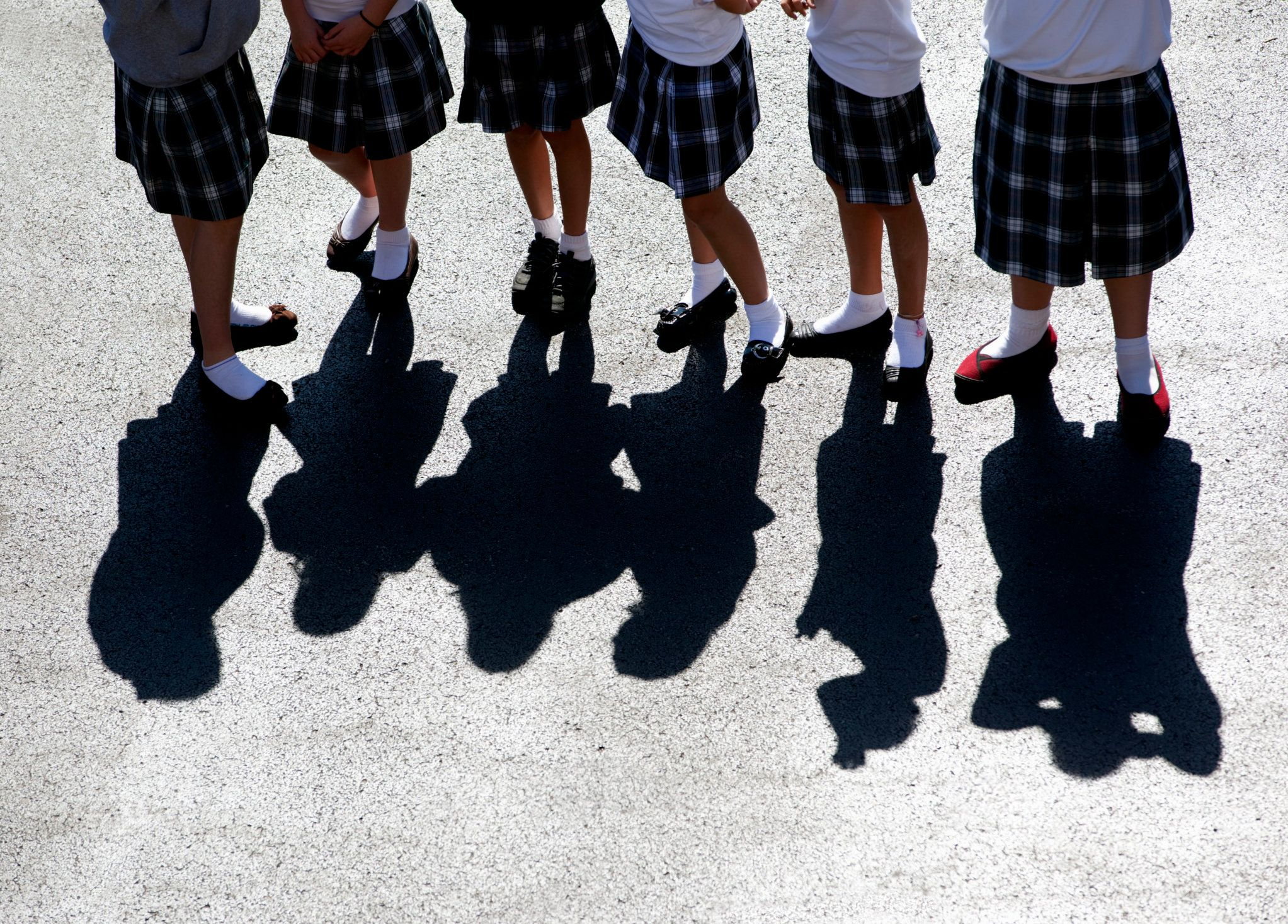 Girls are wearing shorts under their skirts at school to prevent instances where photos are taken and...