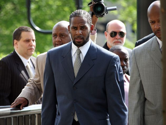 R Kelly arriving in court in 2008, where he was eventually found not guilty of videotaping himself having...