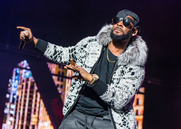 R. Kelly performs at Little Caesars Arena on February 21, 2018 in Detroit,