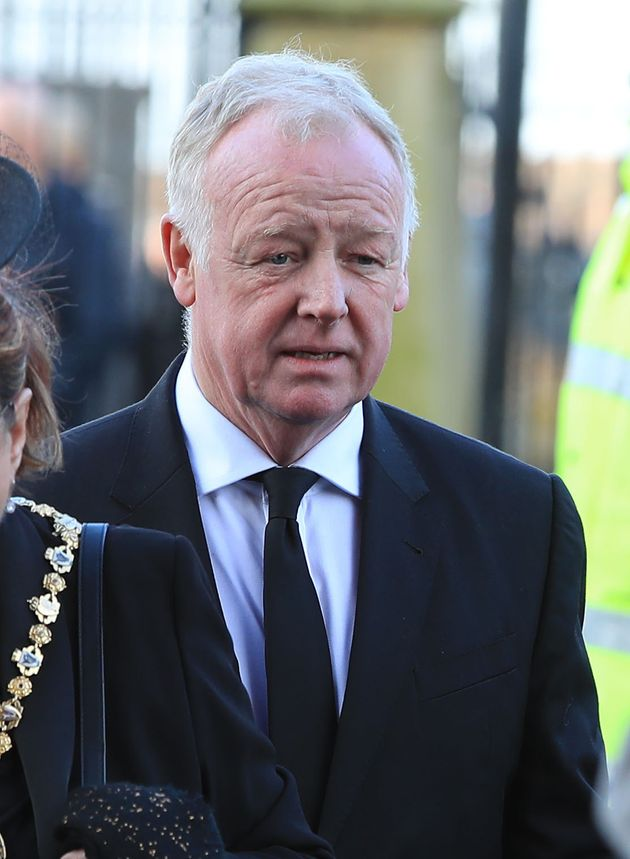 Les Dennis arrives ahead of the funeral service of Sir Ken Dodd at Liverpool Anglican