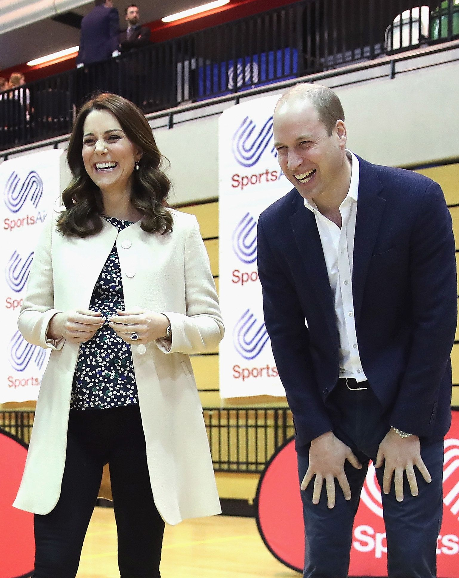 Prince William, Duke of Cambridge and Catherine, Duchess of Cambridgeon 22 March 2018 during one...