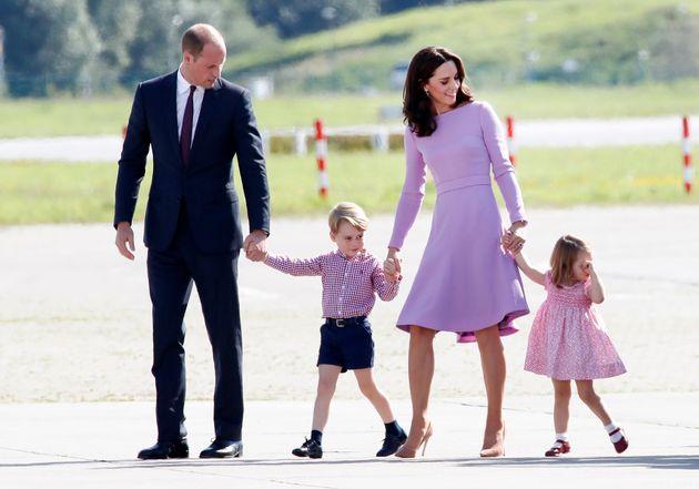 Prince William, Duke of Cambridge, Prince George of Cambridge, Princess Charlotte of Cambridge and Catherine,...