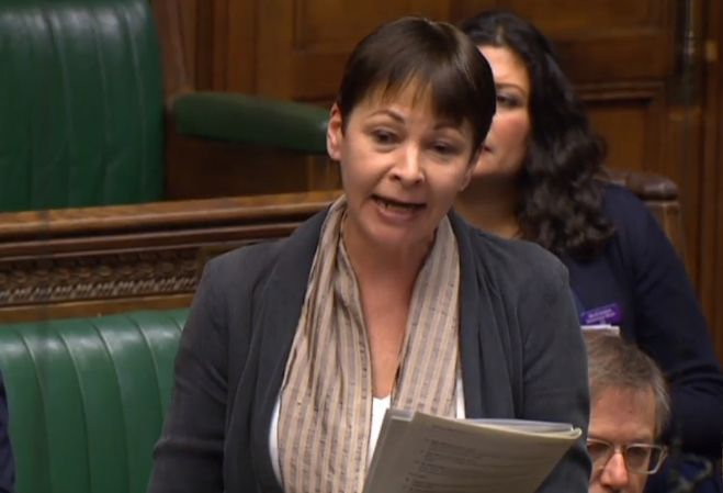 Caroline Lucas Vows 'I Won't Be Silenced' After Tories Shout Down Cambridge Analytica