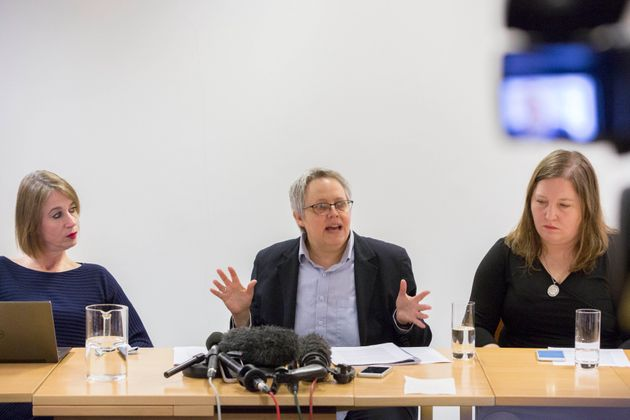 L to R: Philippa Kaufmann QC, senior council, Harriet Wistrich, solicitor for two of Worboys' victims...