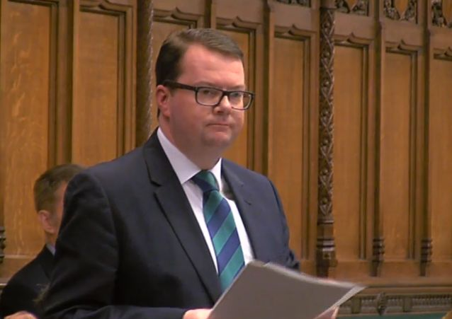 Conor McGinn in the House of Commons speaking about marriage equality in Northern