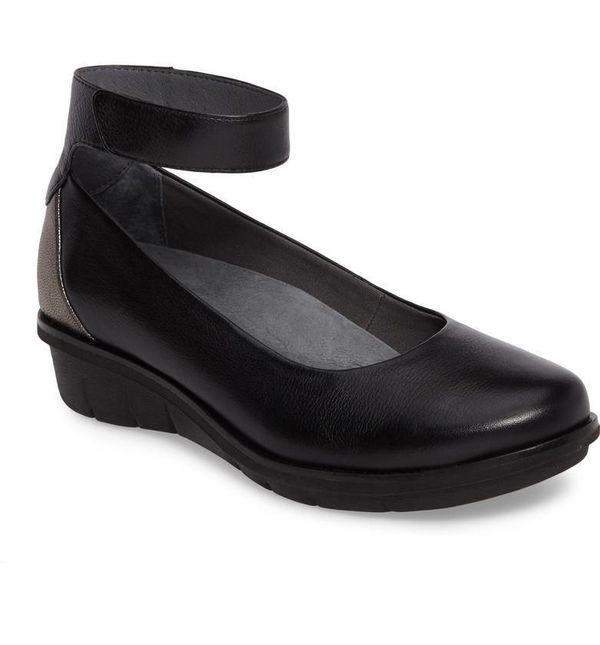 "Get it at <a href=""https://shop.nordstrom.com/s/dansko-jenna-wedge-pump-women/4951463?country=US&currency=USD&cm_mmc="