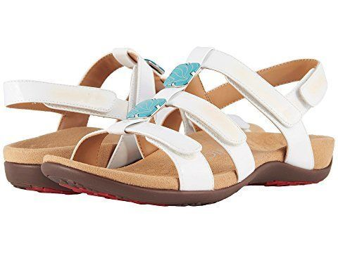 "Get it at <a href=""https://www.zappos.com/p/vionic-amber-white-patent/product/8261412/color/728"" target=""_blank"">Zappos</a>."