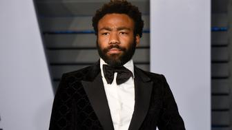 BEVERLY HILLS, CA - MARCH 04:  Donald Glover attends the 2018 Vanity Fair Oscar Party Hosted By Radhika Jones - Arrivals at Wallis Annenberg Center for the Performing Arts on March 4, 2018 in Beverly Hills, California.  (Photo by Presley Ann/Patrick McMullan via Getty Images)