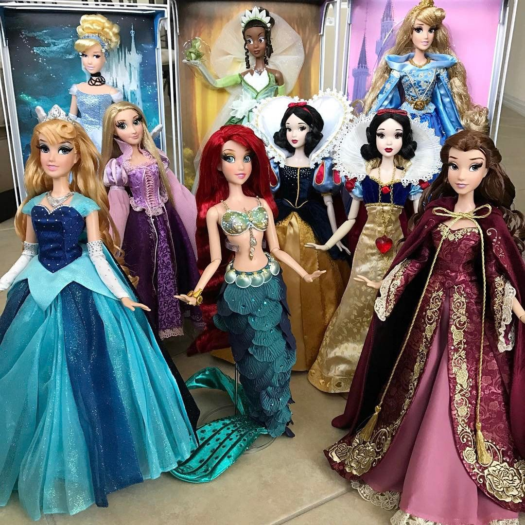 *** EXCLUSIVE - VIDEO AVAILABLE ***  FLORIDA, UNITED STATES - APRIL 01: A group of classic Disney princess dolls posed for a photo, on April 1, 2017 in Florida, United States.  A couple have collected hundreds of official Disney Dolls - worth an incredible $60,000. Mario Menendez and Lazaro Roque have been together for six years but they only got their first doll - a Cinderella figurine - three years ago, but the duo have spent at least $30,000 each since. The couple bonded over their love for dolls and Disney and now they share their collection with other Disney doll fans on Instagram and YouTube. Find out more about the couples collection at: https://www.youtube.com/channel/UCNBRLw8EpfrnCzRbQgBj-cQ  PHOTOGRAPH BY Barcroft Images  London-T:+44 207 033 1031 E:hello@barcroftmedia.com - New York-T:+1 212 796 2458 E:hello@barcroftusa.com - New Delhi-T:+91 11 4053 2429 E:hello@barcroftindia.com www.barcroftimages.com (Photo credit should read Barcroft Images / Barcroft Media via Getty Images)