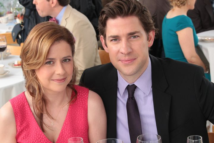 "Jenna Fischer and John Krasinski in ""The Office"" finale."
