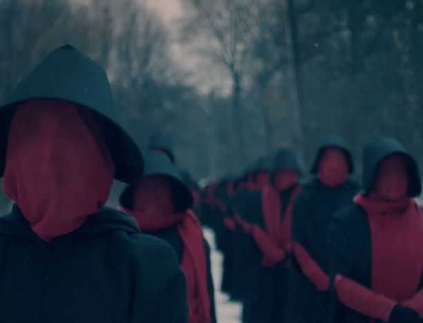 """A screenshot from the most recent trailer for Hulu's """"The Handmaid's Tale."""""""