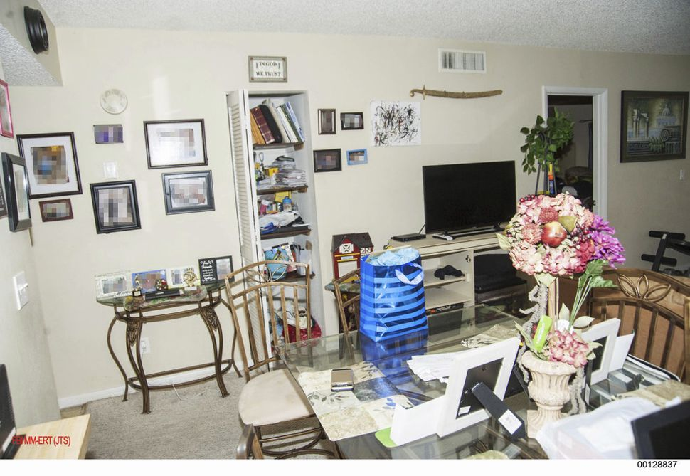 A photo of Noor Salman's living room, which was shown to jurors as evidence.