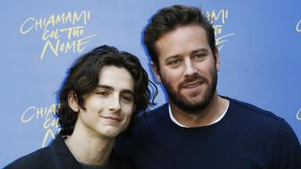 ROME, ITALY - JANUARY 24:  Timothee Chalamet and Armie Hammer attend 'Chiamami Col Tuo Nome (Call Me By Your Name)' at Hotel De Roussie on January 24, 2018 in Rome, Italy.  (Photo by Ernesto Ruscio/Getty Images)