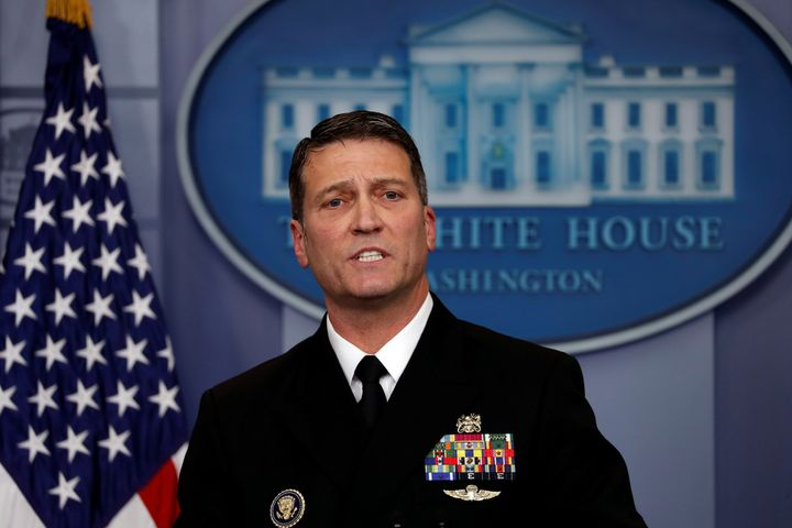 Adm. Ronny L. Jackson has been nominated to lead the Department of Veterans affairs. He has served under three presidents as White House physician.