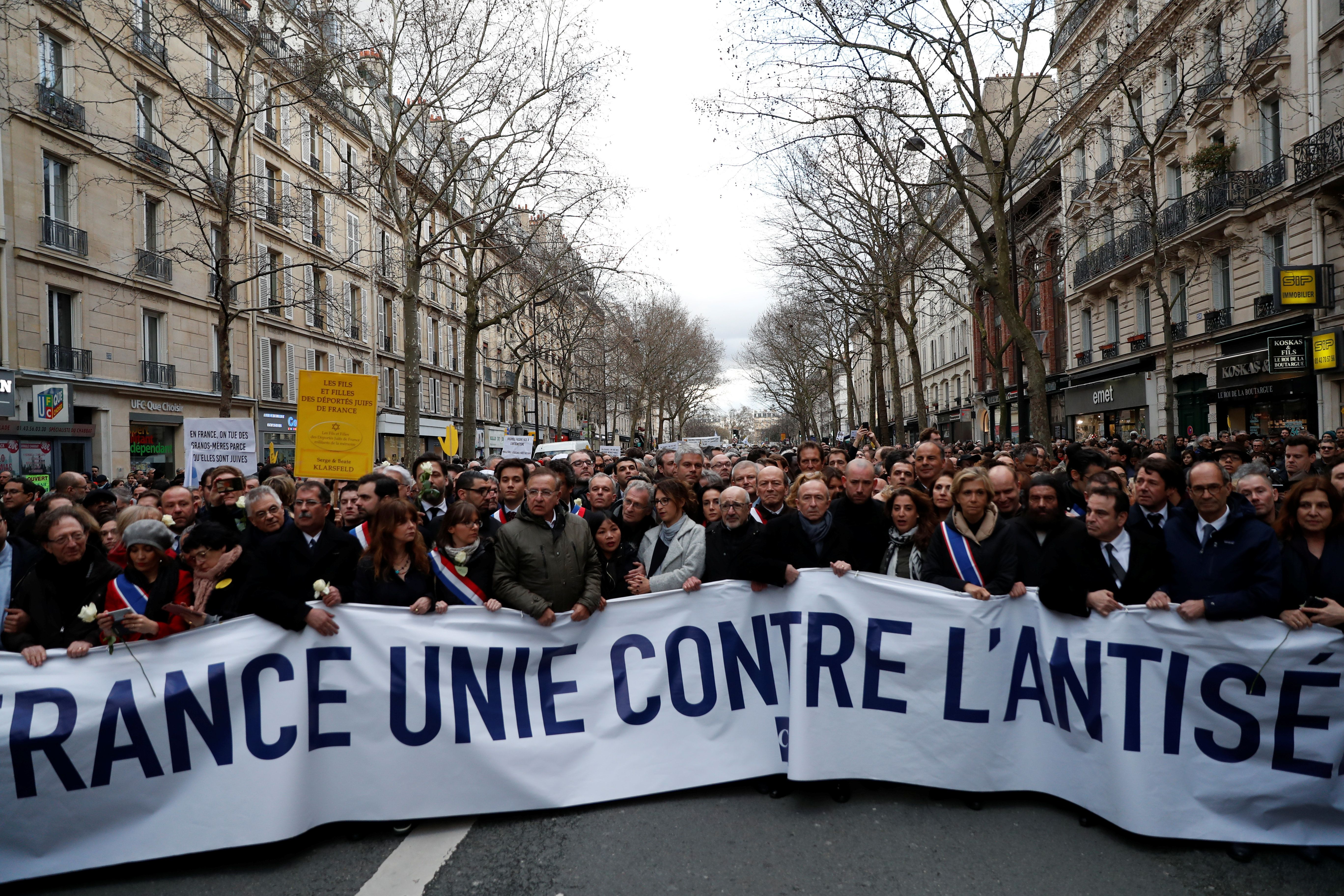 Thousands March In France Over The Murder Of An 85-Year-Old Holocaust Survivor