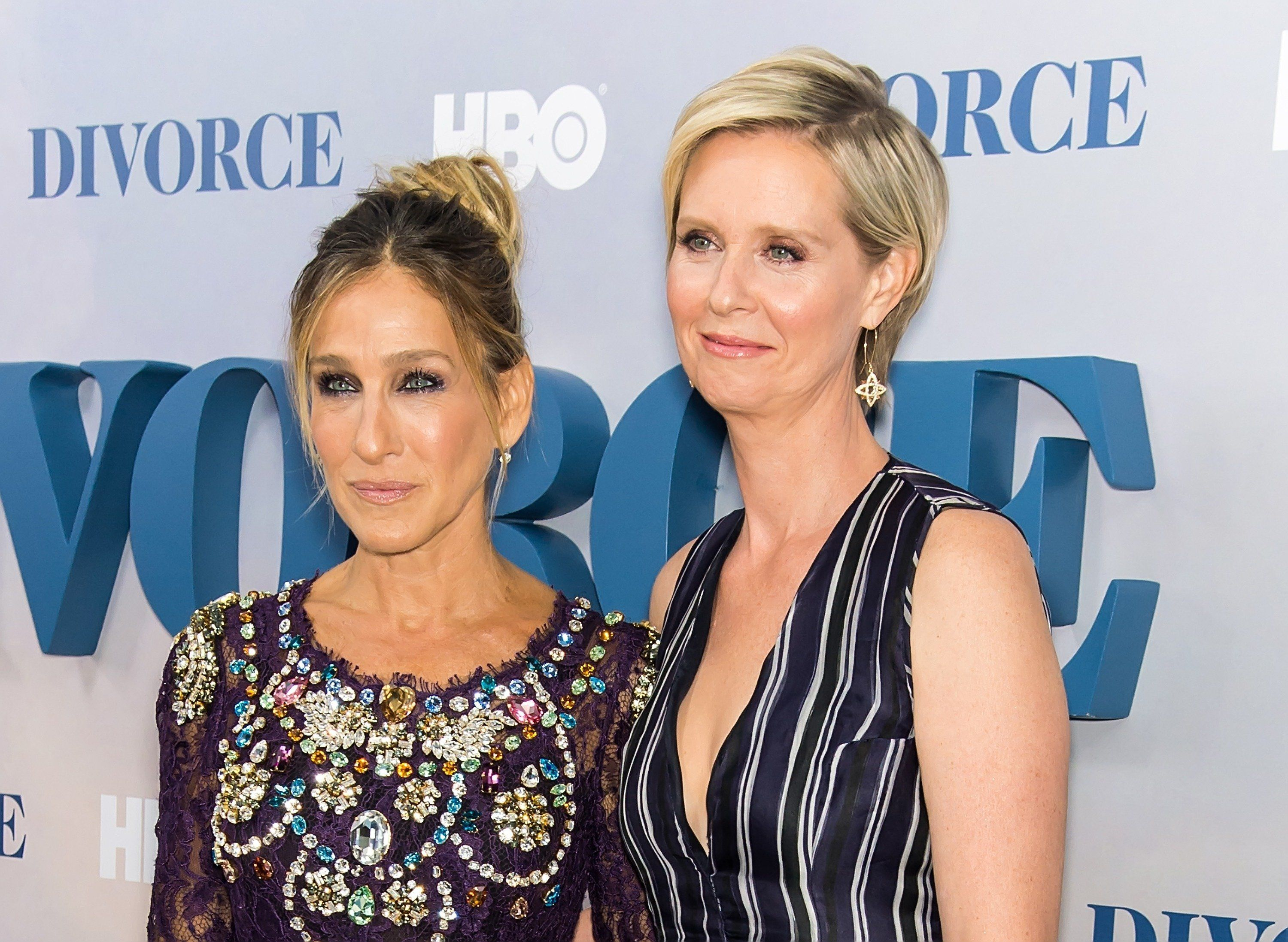 Sarah Jessica Parker, left, weighed in on Cynthia Nixon's gubernatorial bid
