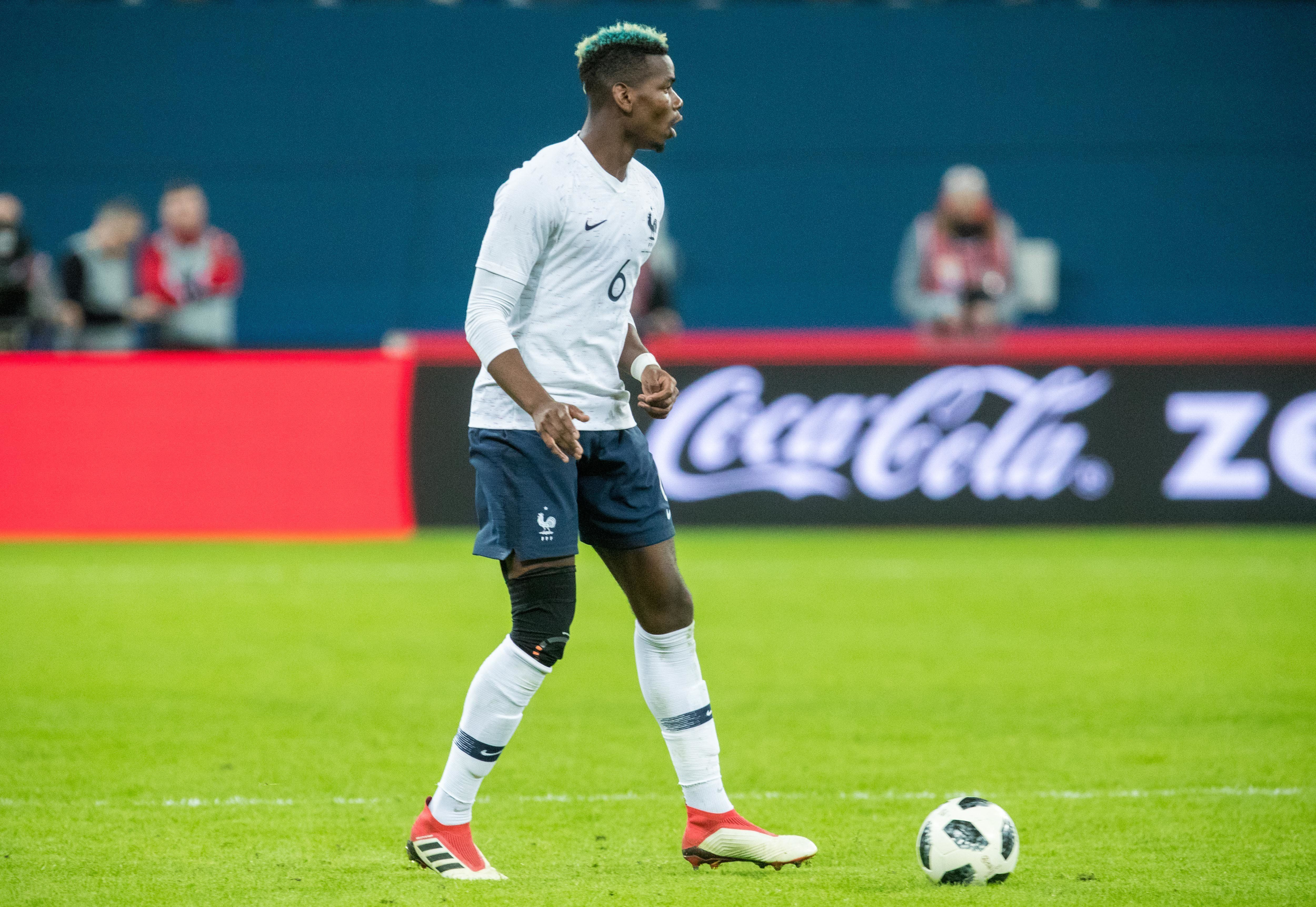 France's Paul Pogba plays against Russia on Tuesday in St Petersburg. Fifa is now investigating alleged...