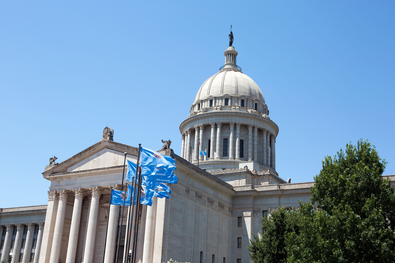 Oklahoma State Capitol building is located in Oklahoma City, Oklahoma, USA.