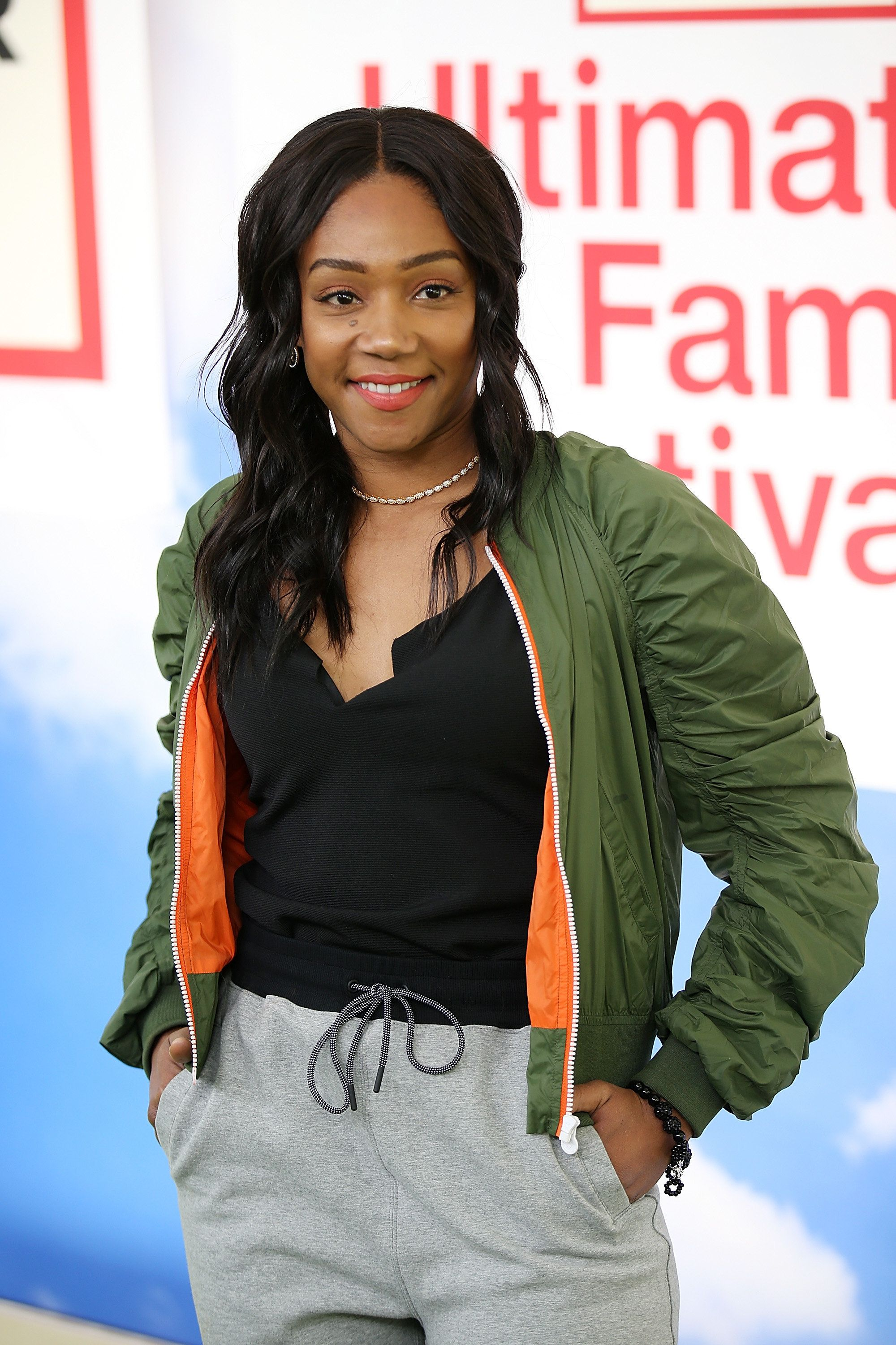 PASADENA, CA - MARCH 25:  Tiffany Haddish attends Hunter for Target Ultimate Family Festival at Rose Bowl on March 25, 2018 in Pasadena, California.  (Photo by Phillip Faraone/WireImage)