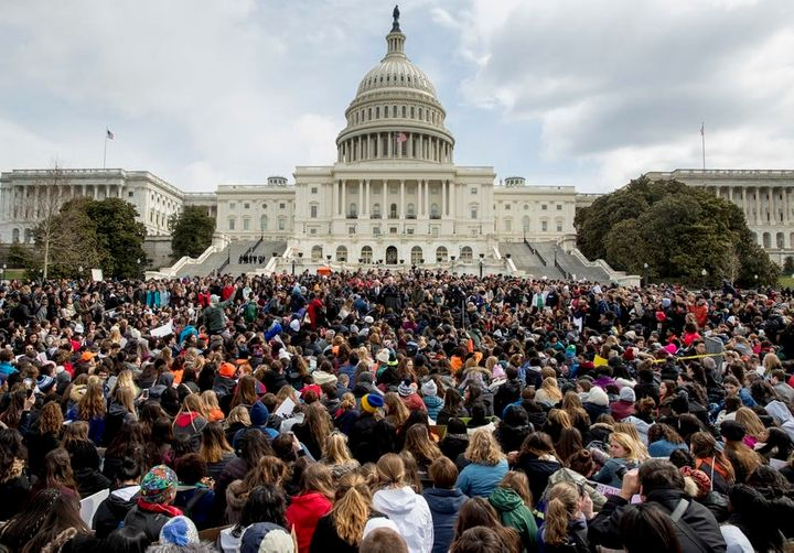 Students rally outside the U.S. Capitol on the March for Our Lives.