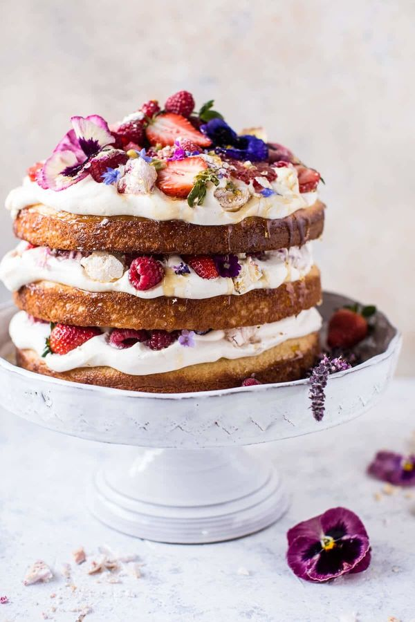 """<strong>Get the <a href=""""https://www.halfbakedharvest.com/coconut-eton-mess-cake-whipped-ricotta-cream/"""" target=""""_blank"""">Coco"""