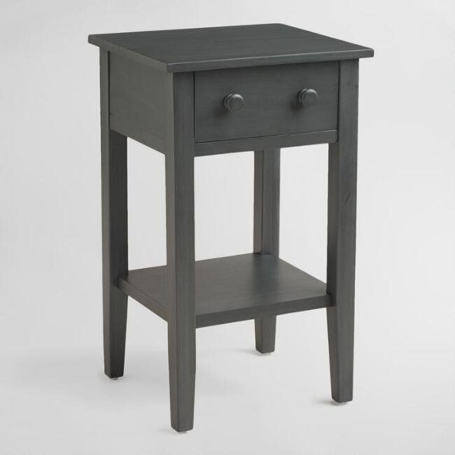 17 bedside tables that are perfect for your small space huffpost life tobacco blue sara nightstand watchthetrailerfo