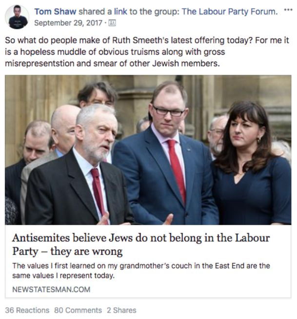Some of the posts shared in the Labour Party Forum