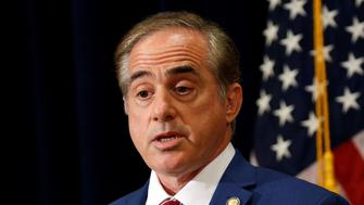 U.S. Veteran's Affairs Secretary David Shulkin reponds to questions concerning U.S. President Donald Trump's controversial statements on the deadly Virginia protests, during a press briefing in Bridgewater, New Jersey U.S., August 16, 2017. REUTERS/Kevin Lamarque