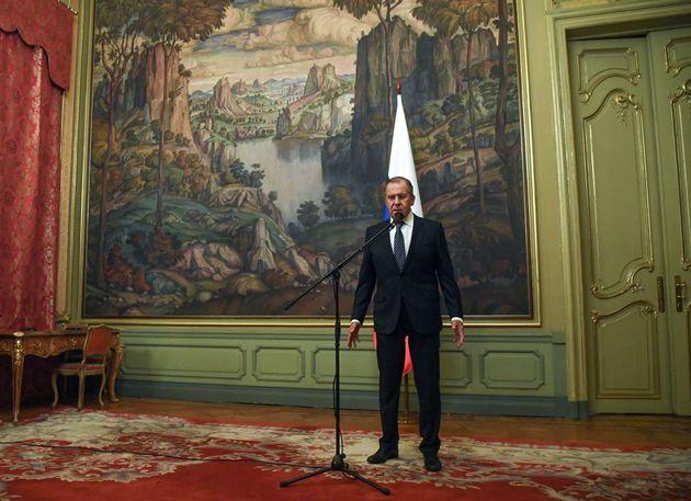세르게이 라브로프 러시아 외무장관이 29일 미국 외교관 추방 결정을 발표하고