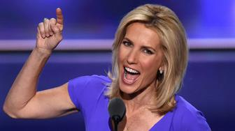 Radio Host Laura Ingraham speaks on the third day of the Republican National Convention in Cleveland, Ohio, on July 20, 2016. / AFP / Timothy A. CLARY        (Photo credit should read TIMOTHY A. CLARY/AFP/Getty Images)