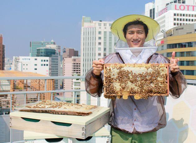 도시 양봉가가 운영하는 카페 '아뻬 서울'이 문을